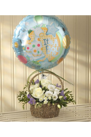 Blue Bundle of Joy Balloon Gift Set