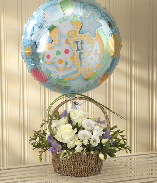 Blue Bundle of Joy Balloon Gift Set